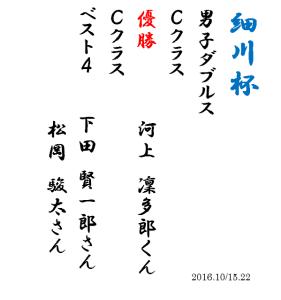 細川杯2016